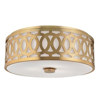 Maspeth 3-Light Flush Mount Finish: Aged Brass