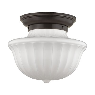 Emmett 1-Light Semi-Flush Mount Finish: Old Bronze, Size: 12.5 H x 15 W