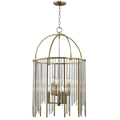 Lesko 6-Light Crystal Pendant Finish: Aged Brass