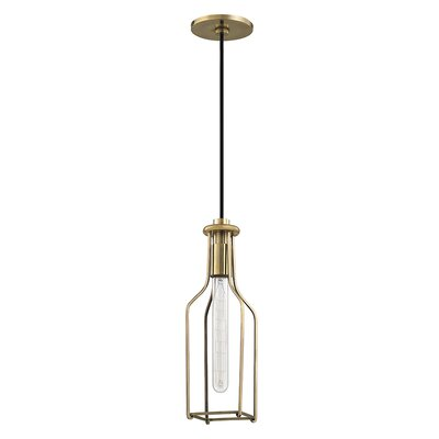Colebrook 1-Light Mini Pendant Finish: Aged Brass