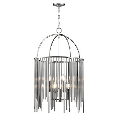 Lesko 6-Light Crystal Pendant Finish: Polished Nickel