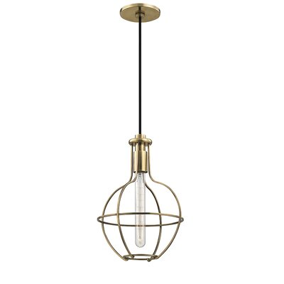 Reece 1-Light Metal Mini Pendant Finish: Aged Brass