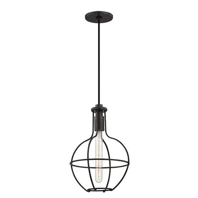 Reece 1-Light Metal Mini Pendant Finish: Old Bronze