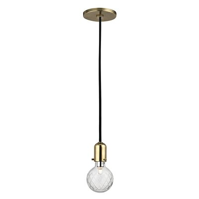 Kyler 1-Light Mini Pendant Finish: Aged Brass