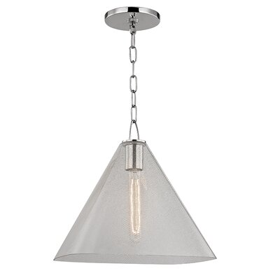 Jaylon 1-Light Mini Pendant Finish: Polished Nickel, Size: 13.5 H x 14 W x 14 D