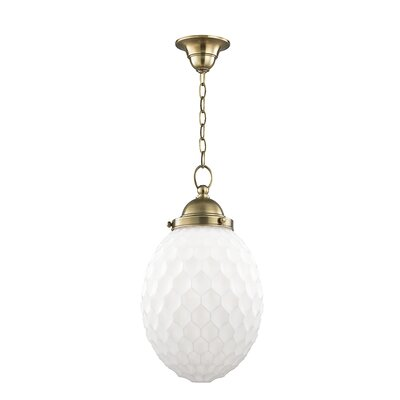 Devonte 1-Light Globe Pendant Finish: Aged Brass, Size: 74 H x 10 W
