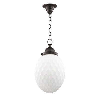 Devonte 1-Light Globe Pendant Finish: Old Bronze, Size: 74 H x 10 W