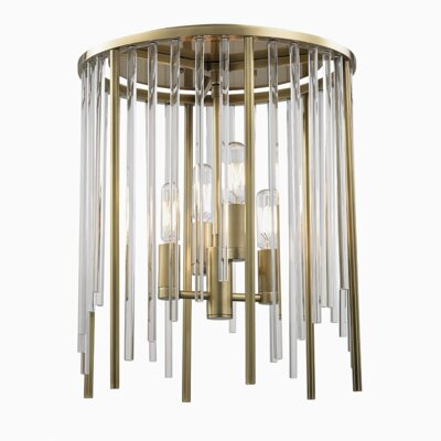 Lesko 4-Light Flush Mount Finish: Aged Brass