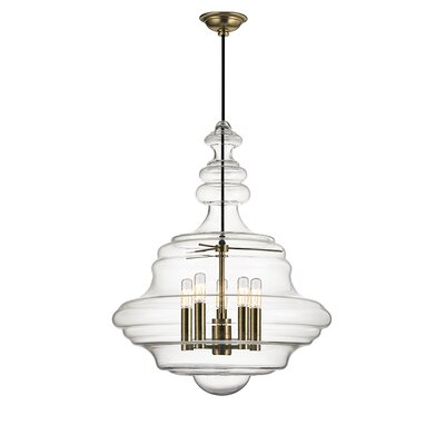Leverett 5-Light Schoolhouse Pendant Finish: Aged Brass