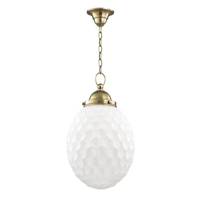 Columbia 1-Light Globe Pendant Finish: Aged Brass, Size: 77.5 H x 12 W