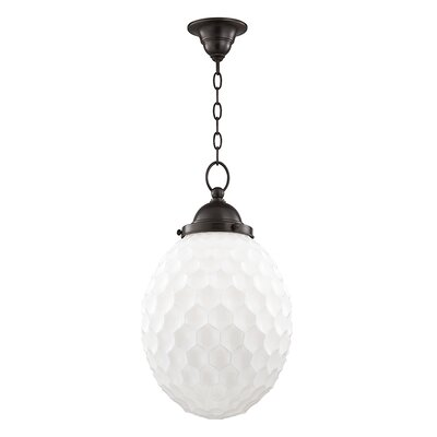 Devonte 1-Light Globe Pendant Finish: Old Bronze, Size: 77.5 H x 12 W