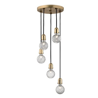 Kyler 5-Light Mini Pendant Finish: Aged Brass