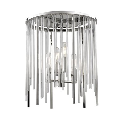 Lesko 4-Light Flush Mount Finish: Polished Nickel