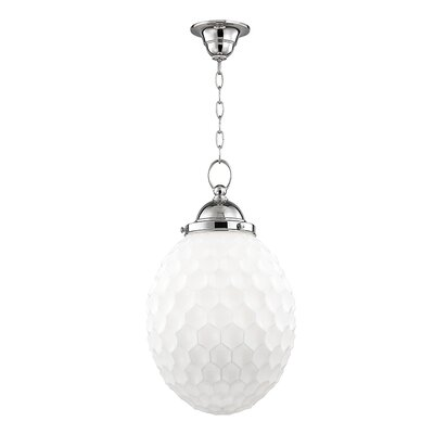 Devonte 1-Light Globe Pendant Finish: Polished Nickel, Size: 77.5 H x 12 W