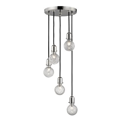 Kyler 5-Light Mini Pendant Finish: Polished Nickel