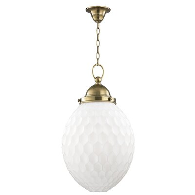 Devonte 1-Light Globe Pendant Finish: Aged Brass, Size: 81.5 H x 14 W