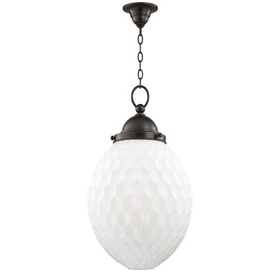 Devonte 1-Light Globe Pendant Finish: Old Bronze, Size: 81.5 H x 14 W