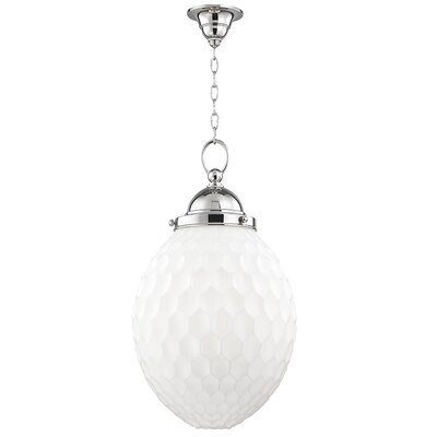 Devonte 1-Light Globe Pendant Finish: Polished Nickel, Size: 81.5 H x 14 W