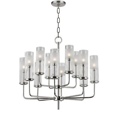 Lessman 12-Light Shaded Chandelier Finish: Polished Nickel