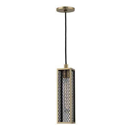Cec�lia 1-Light Mini Pendant Finish: Aged Brass