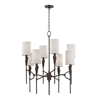 Levan 8-Light Shaded Chandelier Finish: Old Bronze