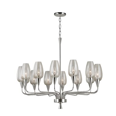 Lesure 14-Light Shaded Chandelier Finish: Polished Nickel
