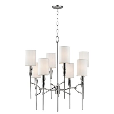 Levan 8-Light Shaded Chandelier Finish: Polished Nickel