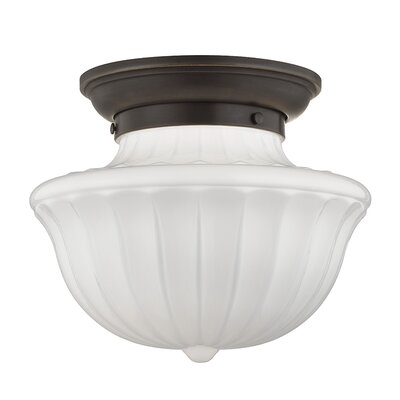 Emmett 1-Light Semi-Flush Mount Finish: Old Bronze, Size: 10 H x 12 W
