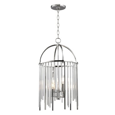 Lesko 4-Light Crystal Pendant Finish: Polished Nickel