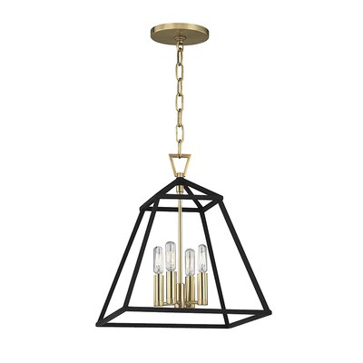 Tristian 4-Light Foyer Pendant Finish: Aged Brass