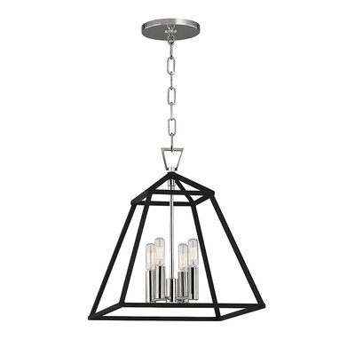 Webster 4-Light Foyer Pendant Finish: Polished Nickel