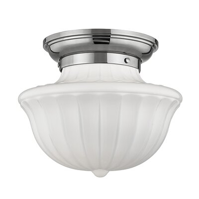 Emmett 1-Light Semi-Flush Mount Finish: Polished Nickel, Size: 10 H x 12 W