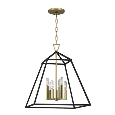 Webster 6-Light Foyer Pendant Finish: Aged Brass