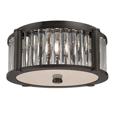 Abdera 3-Light Flush Mount Finish: Old Bronze