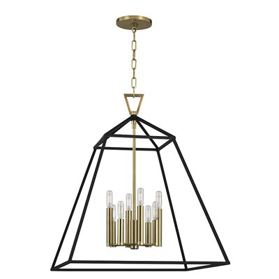Tristian 8-Light Foyer Pendant Finish: Aged Brass