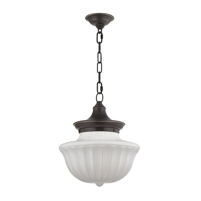 Emmett 1-Light Schoolhaouse Mini Pendant Finish: Old Bronze, Size: 68.75 H x 12 W