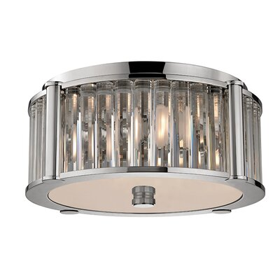 Abdera 3-Light Flush Mount Finish: Polished Nickel