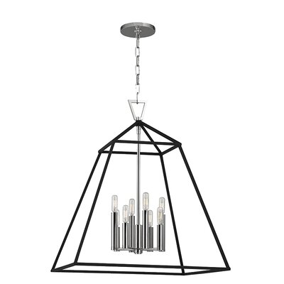 Tristian 8-Light Foyer Pendant Finish: Polished Nickel