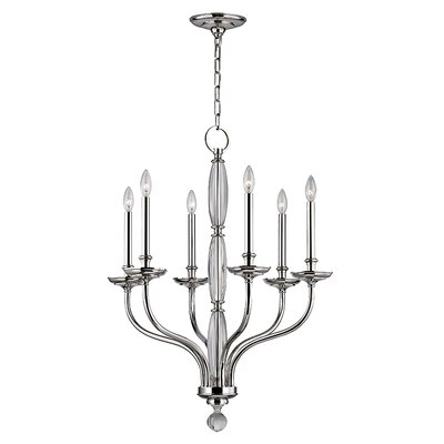 Philomena 6-Light Candle-Style Chandelier Finish: Polished Nickel