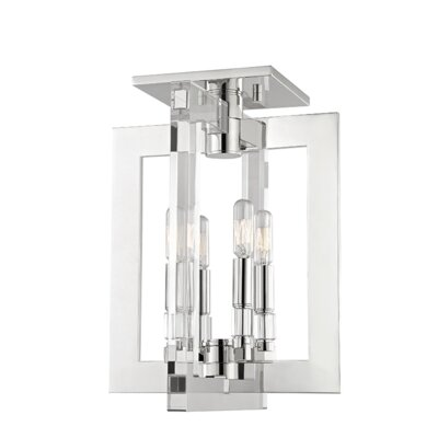 Mott 4-Light Flush Mount Finish: Polished Nickel