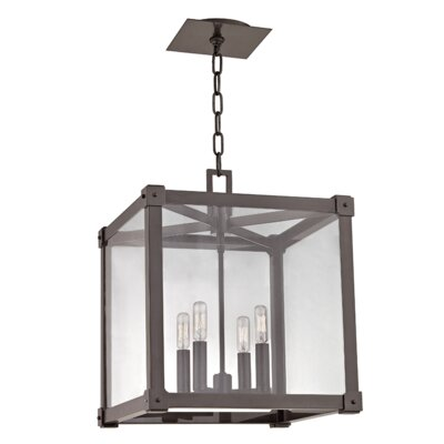 Forsyth 4-Light Foyer Pendant Finish: Old Bronze, Size: 19.5 H x 16.25 W x 16.25 D