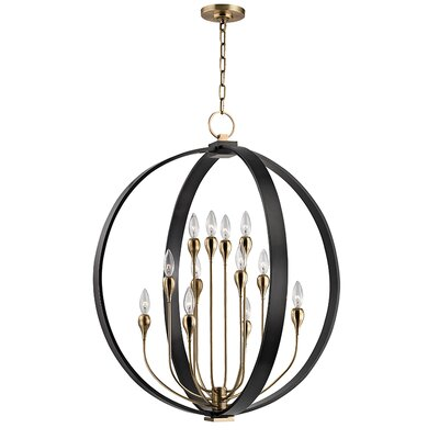 Abadie 12-Light Globe Pendant Finish: Aged Old Bronze