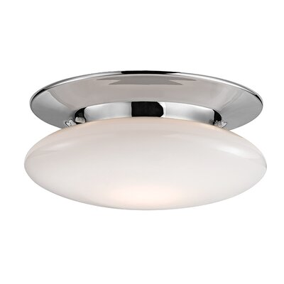 Simon 1-Light Semi-Flush Mount Finish: Polished Chrome, Size: 4.75 H x 12 W