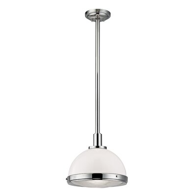 Dalton 1-Light Inverted Pendant Finish: Polished Nickel, Size: 71 H x 13.75 W