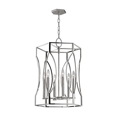 Alonzo 6-Light Pendant Finish: Polished Nickel