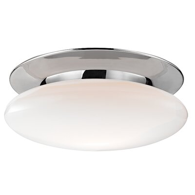 Irvington 1-Light Semi-Flush Mount Finish: Polished Chrome, Size: 6.5 H x 18 W