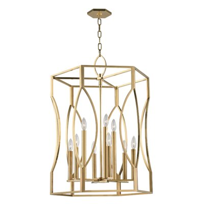 Alonzo 9-Light Foyer Pendant Finish: Aged Brass