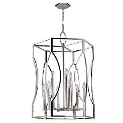 Alonzo 9-Light Foyer Pendant Finish: Polished Nickel