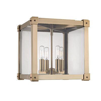 Moncontour 4-Light Flush Mount Finish: Aged Brass