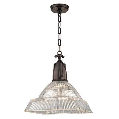 Hoffmann 1-Light Mini Pendant Finish: Old Bronze, Size: 16.25 H x 14 W x 14 D